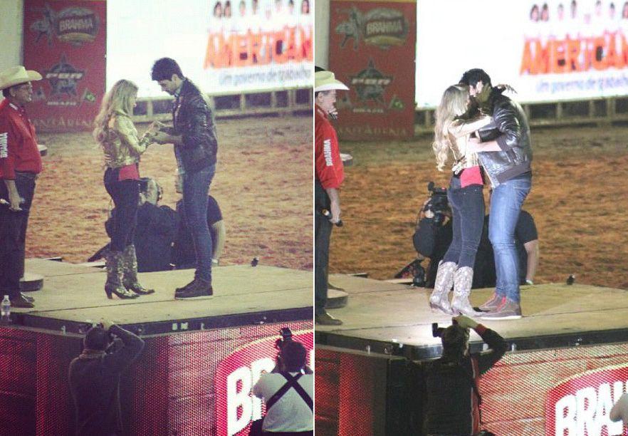 Rodrigão pediu Adriana em casamento na frente de um público de 40 mil pessoas / Divulgação/Twitter