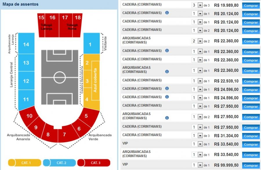 Site é um espaço onde torcedores compram e vendem ingressos / Reprodução