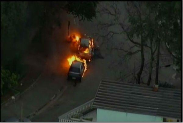 carros pegam fogo em Osasco