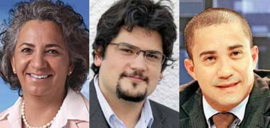 Alzimara (PPL), Meirinho (Psol) e Avanilson (PSTU) / Divulgação