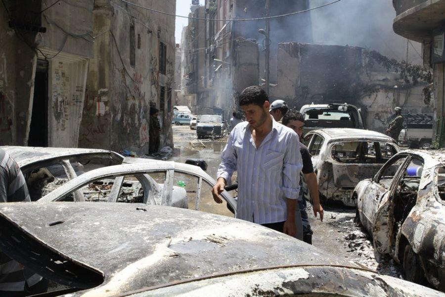 A capital Damasco teve áreas extremamente afetadas pelos bombardeios nesta semana / AFP PHOTO/LOUAI BESHARA