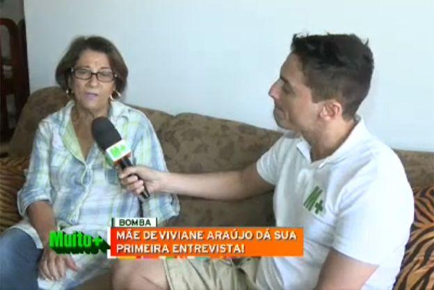 Léo Dias entrevista Dona Neuza / Reprodução/Band