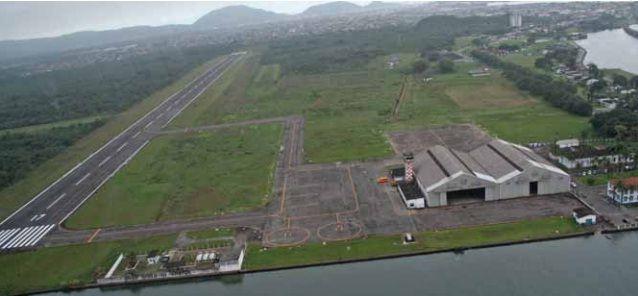 Aeroporto Civil Metropolitano fica na Base Aérea de Santos, localizado no Guarujá / Divulgação