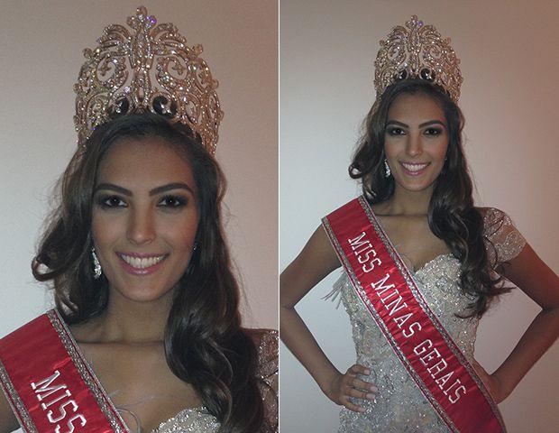 Thiessa Sickert with the crown of Miss Minas Gerais 2012