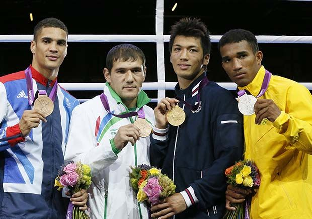 Esquiva Falcão perdeu o ouro para o japonês Ryoro Murata por causa da punição do árbitro / Jack Gues/AFP