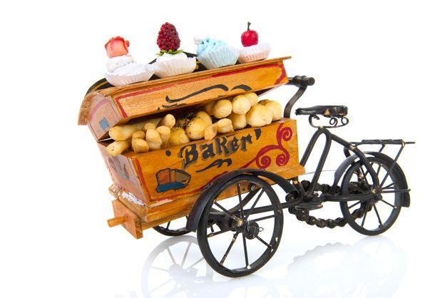 Bicicletinha de bolo