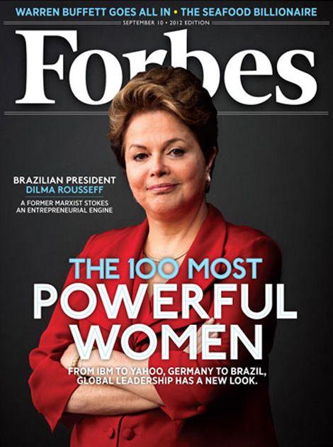 Além da terceira posição na lista, Dilma ganhou destaque na capa da Forbes / Reprodução