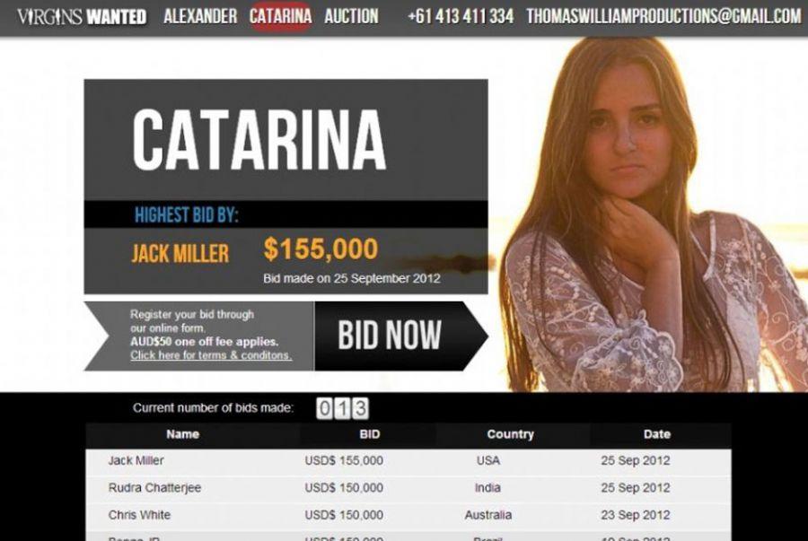 A brasileira conquistou lances de 150 mil dólares pela virgindade / Reprodução/virginswanted.com.au