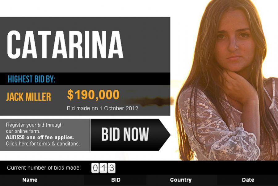 Lances pela virgindade estão na casa de US$ 190 mil (cerca de R$ 385 mil) / Reprodução/Virgins Wanted