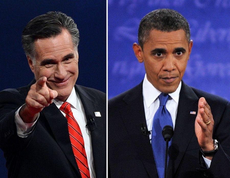 Para os analistas, Romney foi mais agressivo no primeiro debate / STF / AFP