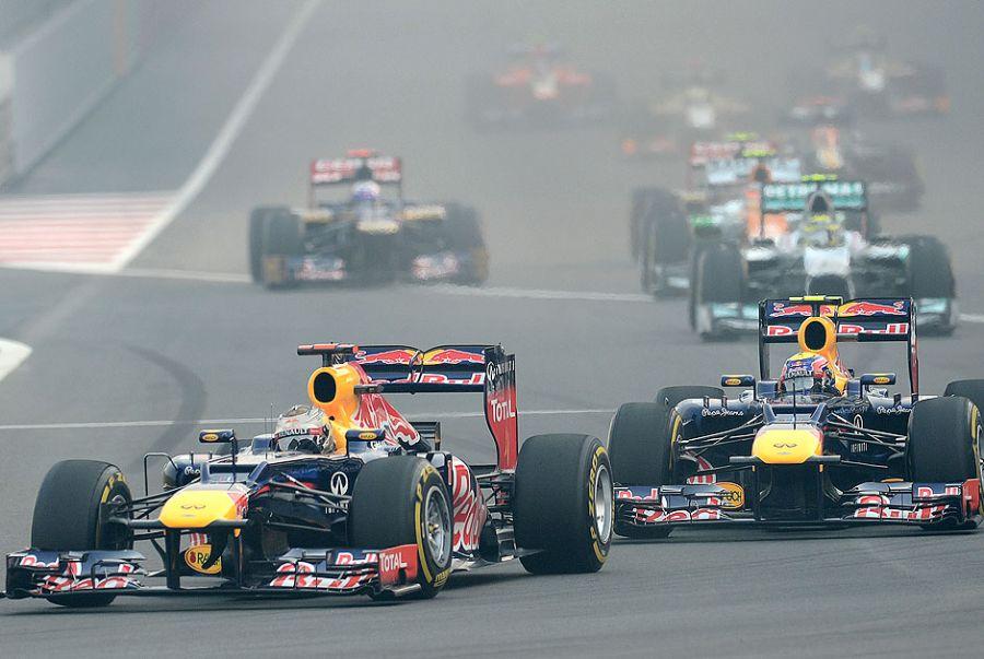 Vettel largou na frente e venceu o GP da Índia / Manan Vatsyayana/AFP