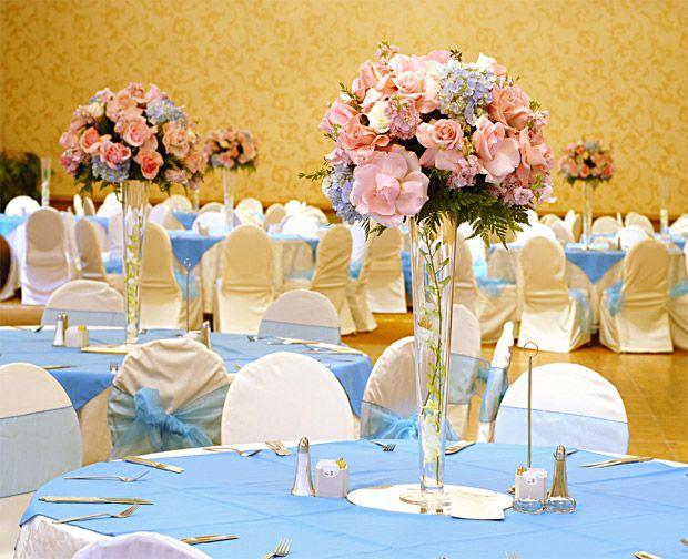 decoracao para casamento em azul e amarelo:Wedding Reception Decorations