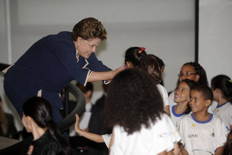 A presidente Dilma participou da cerimônia no Palácio do Planalto / Wilson Dias/ABr