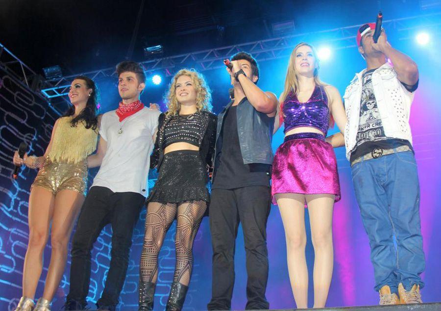 Integrantes da banda Rebeldes em show de despedida pelo Brasil / Wesley Costa/AgNews