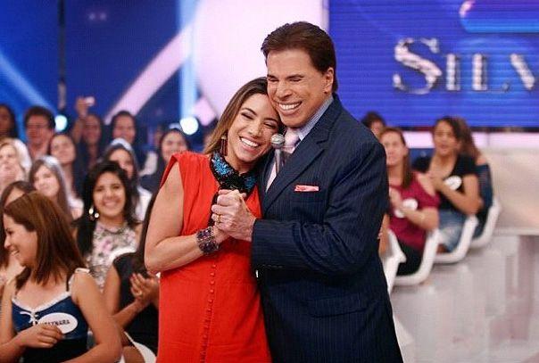 Patricia Abravanel em foto ao lado de Silvio Santos / Divulgação/Instagram