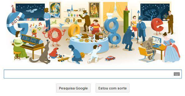 Google apresenta doodle de fim de ano / Reprodução/Google