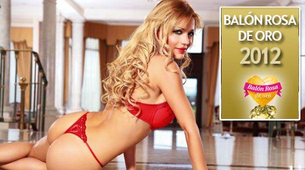 Evangelina Anderson ficou com o troféu Balon Rosa de Oro / Reprodução/El Balon Rosa