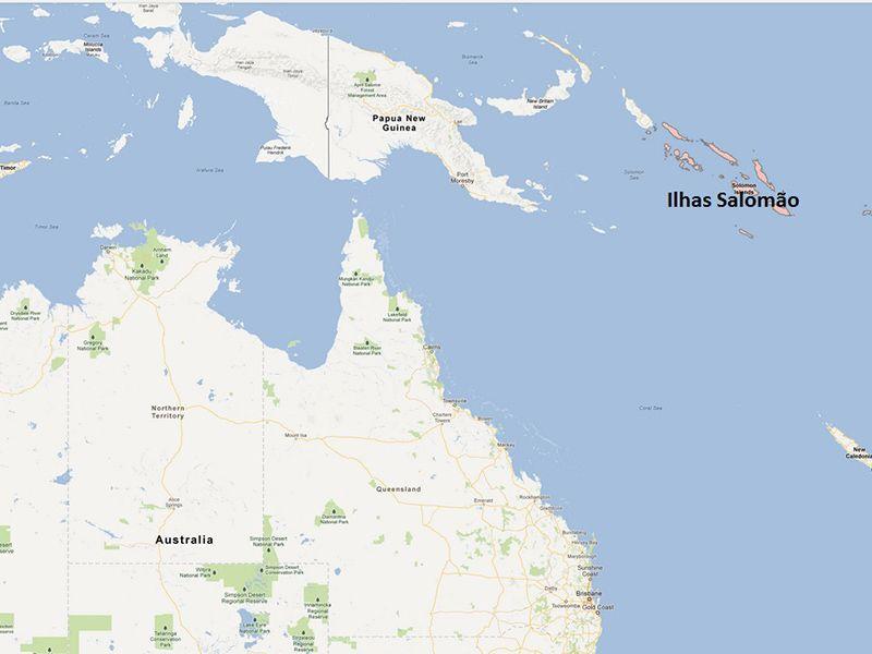 Terremoto foi registrado na região das Ilhas Salomão / Reprodução/Google Mapa