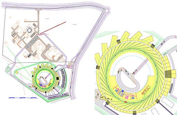 Planta das obras da construção do novo acelerador de partículas. Foto: Divulgação/LNLS