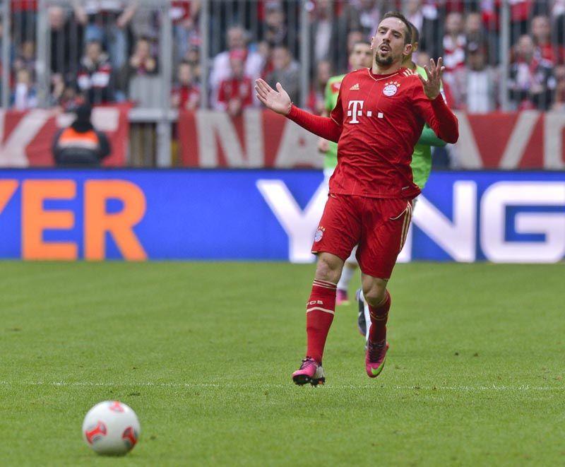 Ribéry em ação contra o Fortuna Dusseldorf / Guenter Schiffmann/AFP