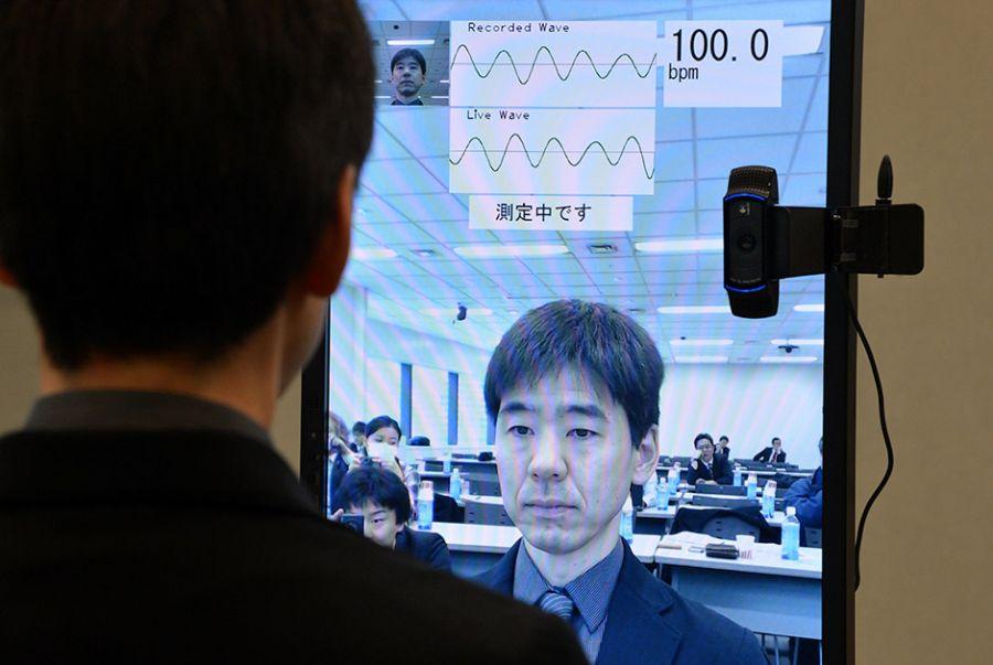 O sistema consegue fazer a medição da pressão arterial em menos de cinco segundos / Yoshikazu Tsuno/AFP