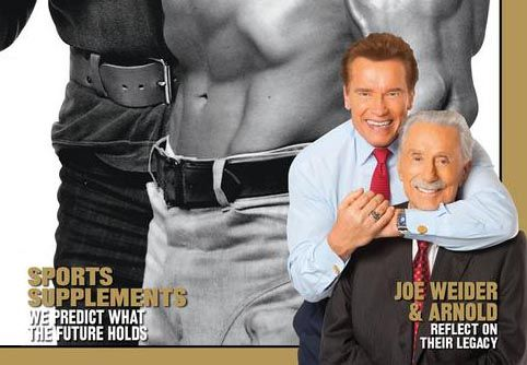 Arnold Schwarzenegge publicou foto com Weider em seu site / Divulgação/Site oficial