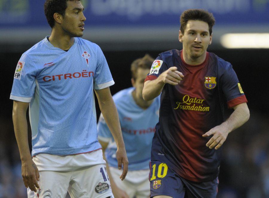 Messi comemora mais um gol histórico pelo Barcelona / Miguel Riopa/AFP