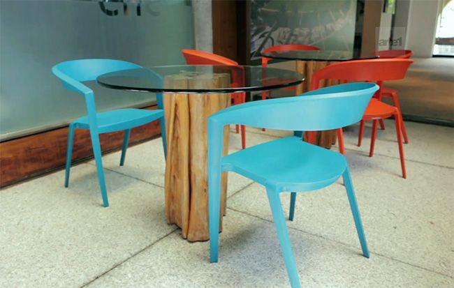 Com linhas leves, designer muda conceito de cadeira de plástico