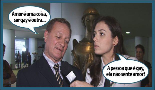 Valdir Colatto com Monica Iozzi