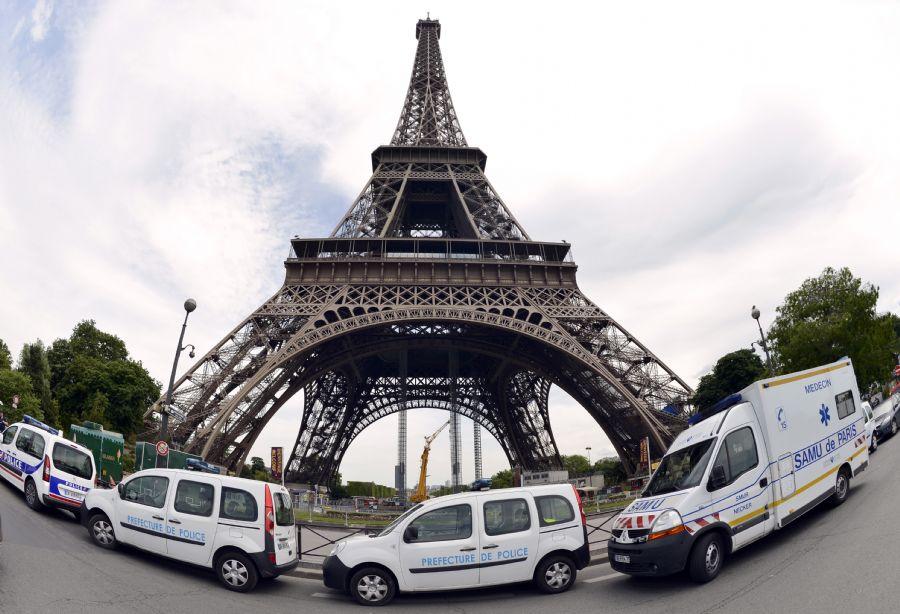 Essa não é a primeira vez que o monumento é fechado por protesto de trabalhadores em 2015 / Bertrand Guay / AFP