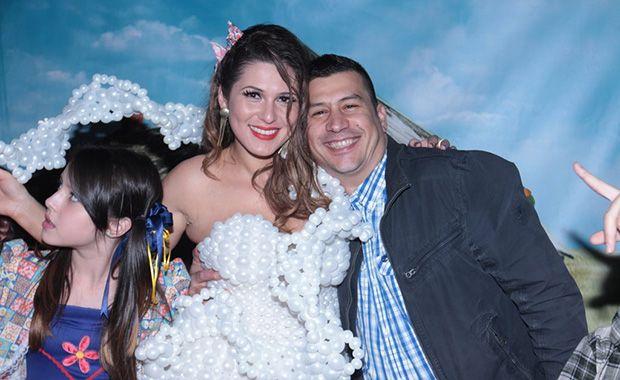 Lívia e o marido Junior