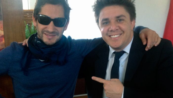 Oscar e Gonzalo Marco, diretor do CQC / Divulgação/Twitter