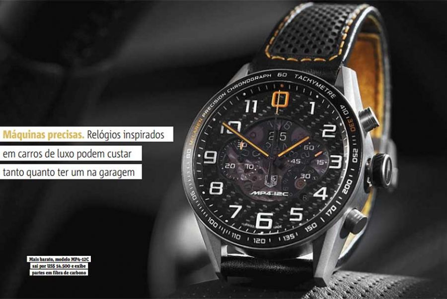 2be9807103e Veja relógios inspirados em carros de luxo - Notícias - Notícias ...