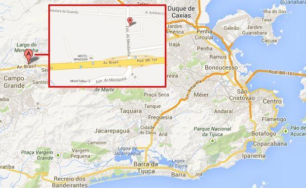 Novo mapa adutora Cedae Campo Grande RJ