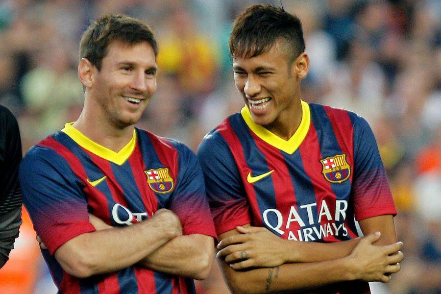 Veja imagens do amistoso entre Barcelona e Santos