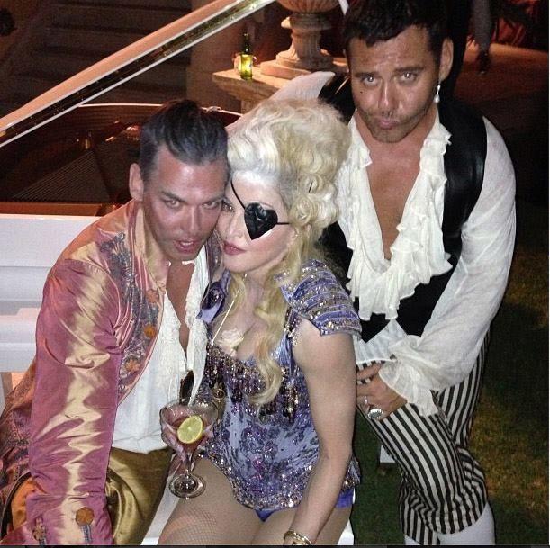 Madonna comemorou seu aniversário com uma festa temática
