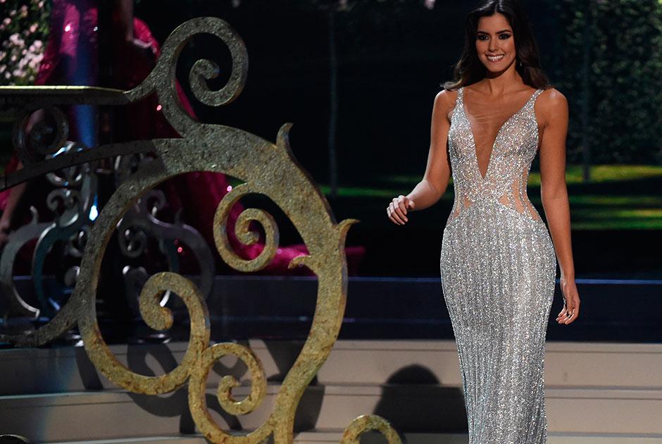Paulina usou o mesmo vestido de gala no dia da final