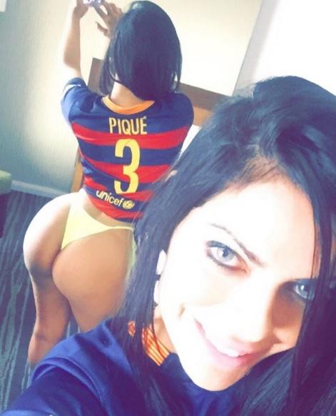 Miss Bumbum torce para o Barça e é fã de Piqué