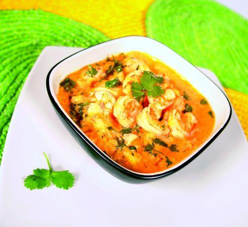 Bobó de camarão no prato principal /