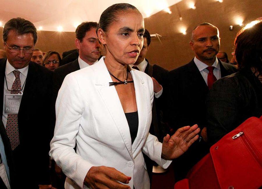 Marina Silva, candidata pelo partido em 2010, não defendia esses pontos  / Pedro Ladeira/ Folhapress