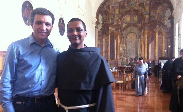 Marcio Campos e o frei Evilásio