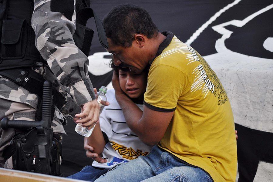 Cenas de medo e desespero no Frasqueirão antes de ABC x Palmeiras
