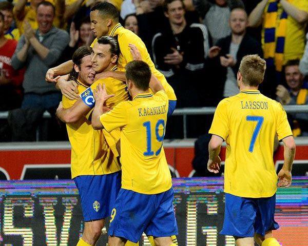 Ibrahimovic faz gol para Suécia