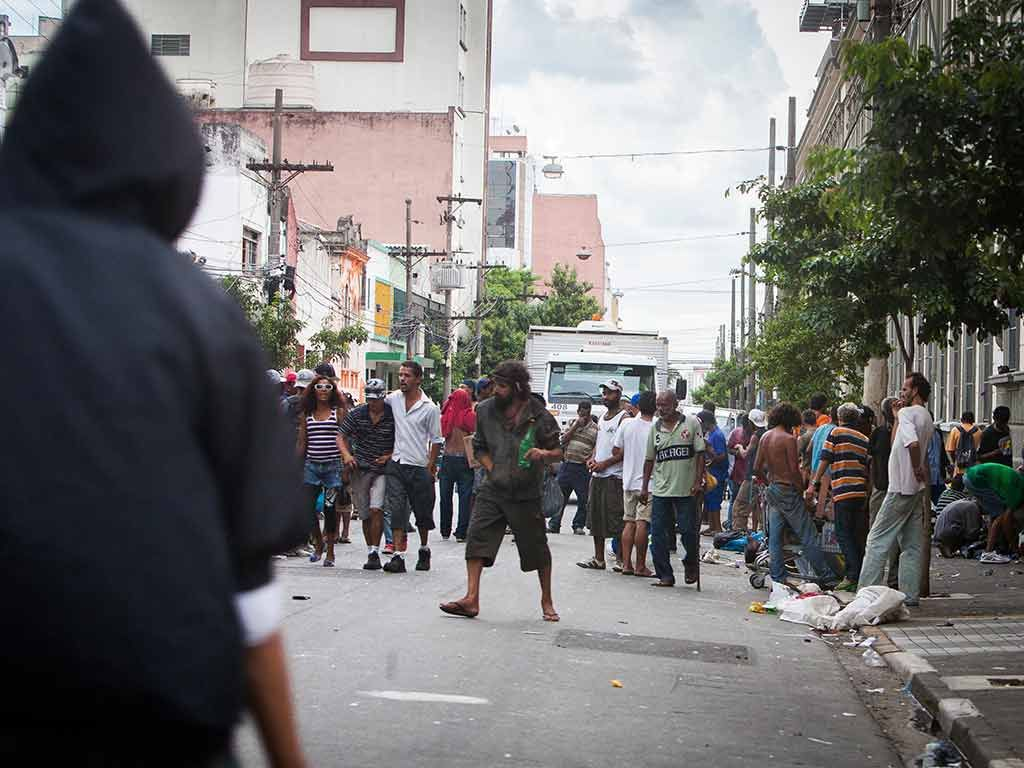 Ação na Cracolândia aconteceu na tarde de ontem / Raquel Cunha/Folhapress