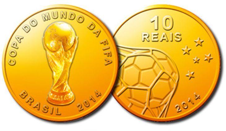 Moeda comemorativa da Copa de 2014 / Divulgação