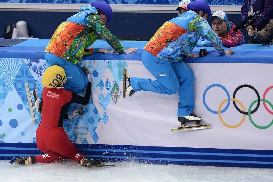 Confira alguns tombos dos Jogos de Sochi