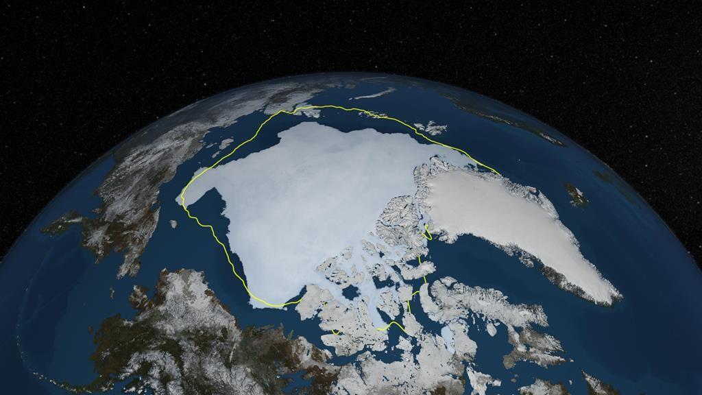 Resultado de imagem para gelo no ártico, nasa