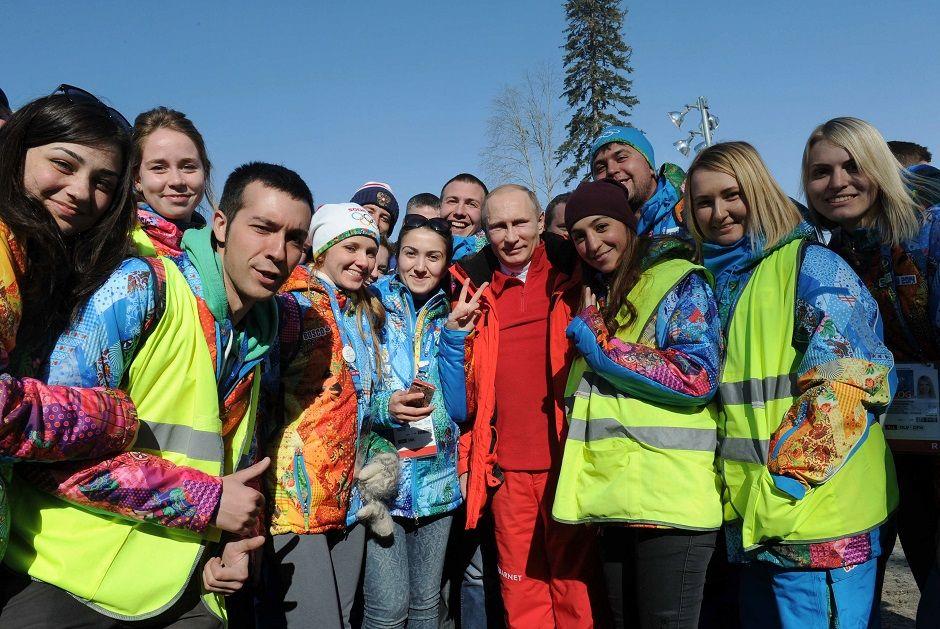 Putin é atração à parte em Sochi
