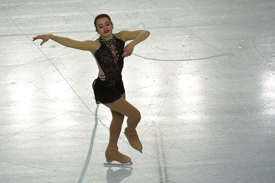 Isadora foi a primeira brasileira na patinação artística / Damien Meyer/AFP