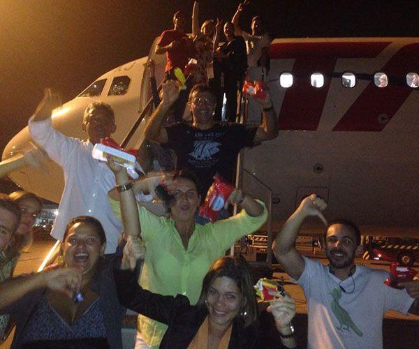 Passageiros protestaram após problemas na TAM / Divulgação/Arquivo Pessoal